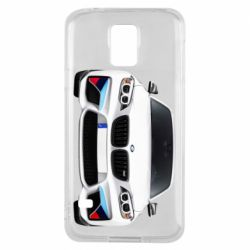 Чохол для Samsung S5 White bmw