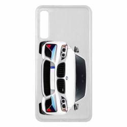 Чохол для Samsung A7 2018 White bmw
