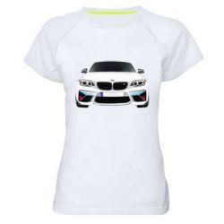 Жіноча спортивна футболка White bmw