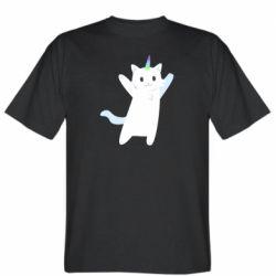 Чоловіча футболка White cheerful cat