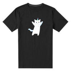 Чоловіча стрейчева футболка White cheerful cat