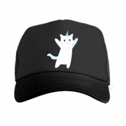 Кепка-тракер White cheerful cat