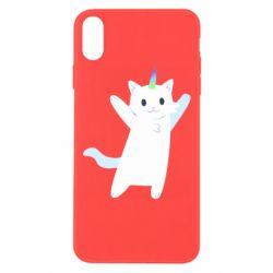 Чохол для iPhone Xs Max White cheerful cat