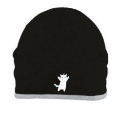 Шапка White cheerful cat