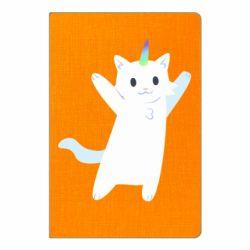 Блокнот А5 White cheerful cat