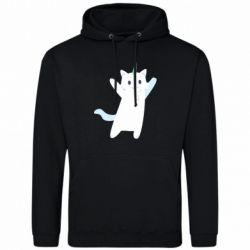 Чоловіча толстовка White cheerful cat