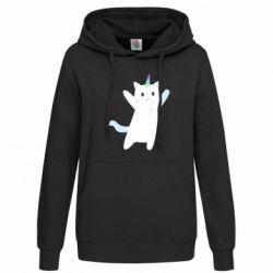 Толстовка жіноча White cheerful cat