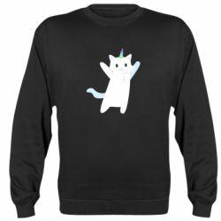 Реглан (світшот) White cheerful cat
