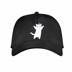 Дитяча кепка White cheerful cat