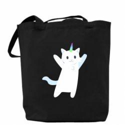 Сумка White cheerful cat