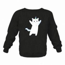 Дитячий реглан (світшот) White cheerful cat