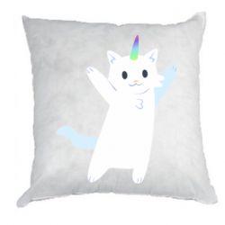 Подушка White cheerful cat