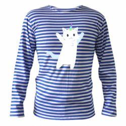Тільник з довгим рукавом White cheerful cat