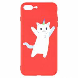 Чохол для iPhone 8 Plus White cheerful cat