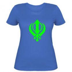 Женская футболка White Khanda - FatLine