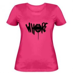 Женская футболка Whore