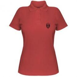 Женская футболка поло Wiedzmin logo