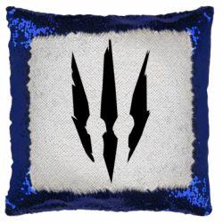 Подушка-хамелеон Wiedzmin logo