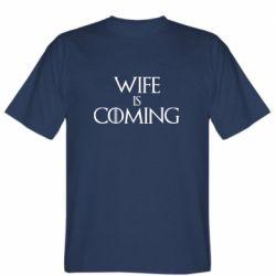 Чоловіча футболка Wife is coming