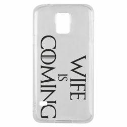 Чохол для Samsung S5 Wife is coming