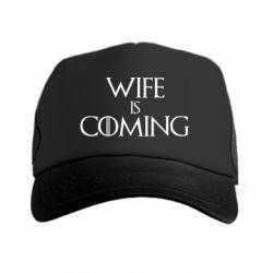 Кепка-тракер Wife is coming