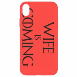 Чохол для iPhone XR Wife is coming