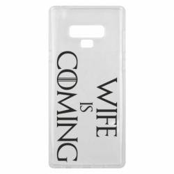 Чохол для Samsung Note 9 Wife is coming