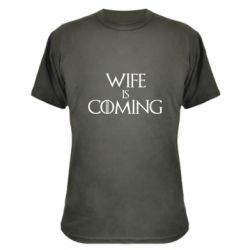Камуфляжна футболка Wife is coming