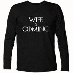 Футболка з довгим рукавом Wife is coming