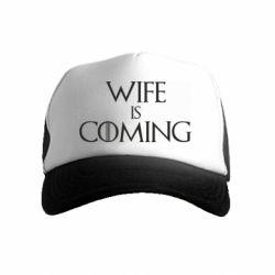 Дитяча кепка-тракер Wife is coming