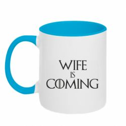 Кружка двоколірна 320ml Wife is coming