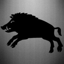 Наклейка Wild boar