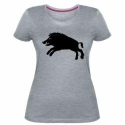 Жіноча стрейчева футболка Wild boar
