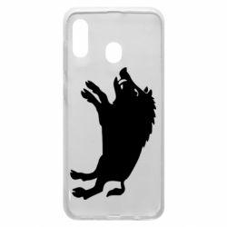 Чохол для Samsung A20 Wild boar