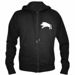 Чоловіча толстовка на блискавці Wild boar