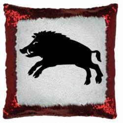 Подушка-хамелеон Wild boar