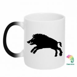 Кружка-хамелеон Wild boar