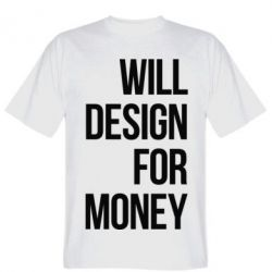 Футболка Will design for money
