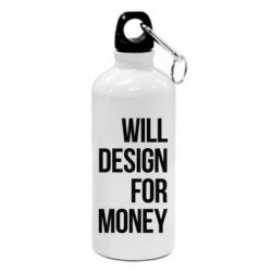 Фляга Will design for money - FatLine