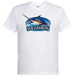 Мужская футболка  с V-образным вырезом Williamson - FatLine