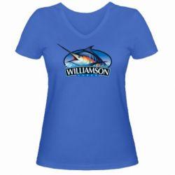 Женская футболка с V-образным вырезом Williamson - FatLine