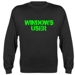 Реглан (свитшот) Windows User - FatLine