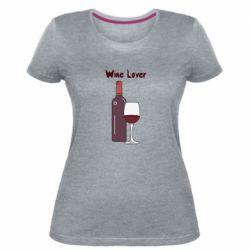 Жіноча стрейчева футболка Wine lover