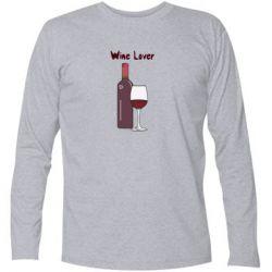 Футболка з довгим рукавом Wine lover