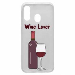 Чохол для Samsung A40 Wine lover
