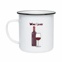 Кружка емальована Wine lover