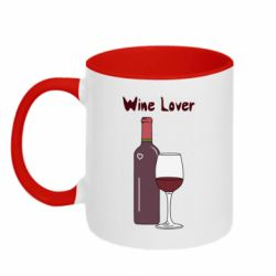Кружка двоколірна 320ml Wine lover