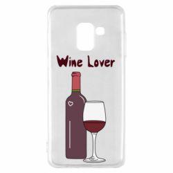Чохол для Samsung A8 2018 Wine lover