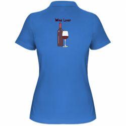 Жіноча футболка поло Wine lover