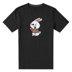 Чоловіча стрейчева футболка Winter bunny